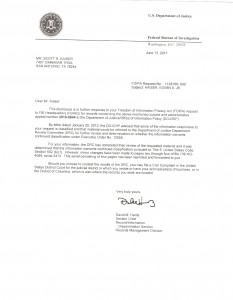 Letter from the FBI on my father